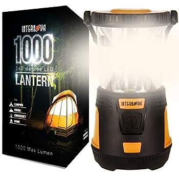 INTERNOVA 1000 LED Camping Lantern - Massive Brightness with Fully Adjustable 360 Arc Lighting - Emergency - Backpacking - Construction - Hiking - Auto - Home - College  Cadmium Orange