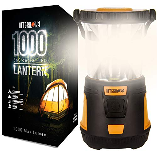 Internova 1000 LED Camping Lantern - Massive Brightness with Fully Adjustable 360 Arc Lighting - Emergency - Backpacking - Construction - Hiking - Auto - Home - College (Cadmium Orange)