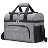 Lifewit Collapsible Cooler Bag 32-Can Insulated Leakproof Soft Cooler Portable Double Decker Cooler...