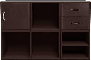 Foremost 340009 Modular 6-in-1 Shelf Cube Storage System, Espresso