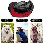 MaoXinTek Pet Sling Carrier Bag, Safe Dog Slings Backpack for Small Puppy Cat 2.5kg/5.5LB Breathable Mesh Travel Carrier Pouch, Shoulder Cross body Bag Hand Free for Outdoor Walking Subway 11