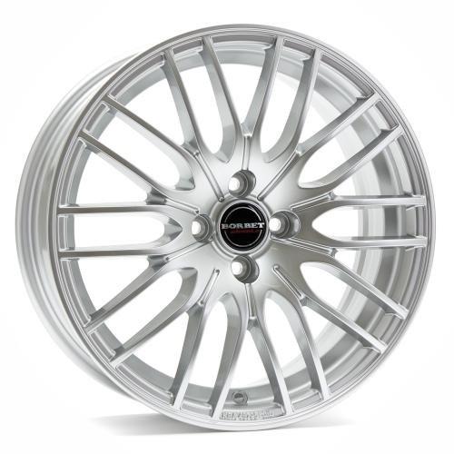 Borbet CW 4 sterling silver 8x18 ET45 5.00x120 Hub Bore 72.50 mm - Alu felgen