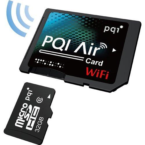 PQI Air Card 32GB MicroSDHC Card with Wireless MicroSD Adapter