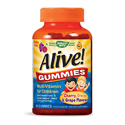 Nature's Way Alive! Children's Premium Gummy Multivitamin, Gluten Free, Made with Pectin, 90 Gummies