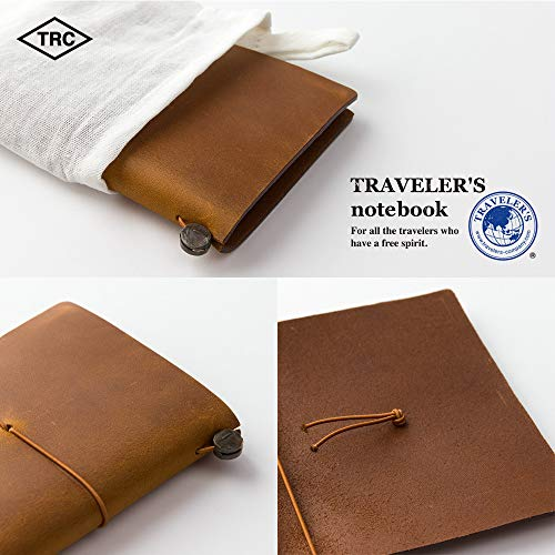Midori Traveler's Notebook - Starter Kit, Camel (Passport Size) Photo #9