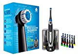 PURSONIC S330 Deluxe Ultra High Powered Rotary Oscillating Rechargeable Electric Toothbrush with Dock Charger & 12 Brush Heads (Value Pack)