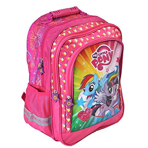 My Little Pony - Super Rucksack/Schulrucksack - 38 x 29 x 17 - passend für DIN A4 - Motiv: Rainbow Dash & Twilight Sparkle - für Schule, Sport + Freizeit