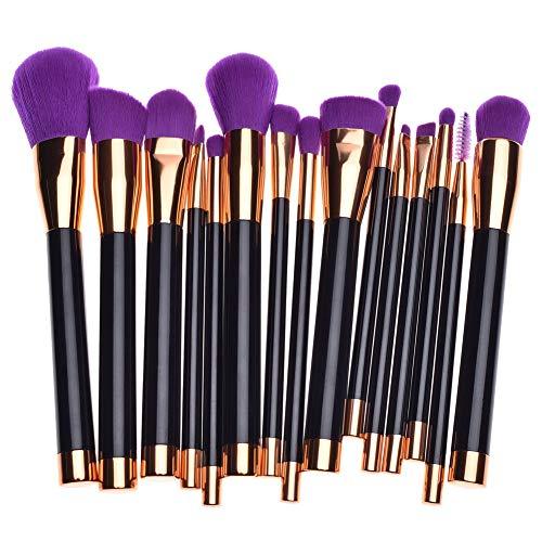GODGETS Make-up Pinsel 15 Stück Pro Make-up Pinsel Set mit Tasche & Natural Hair (Foundation...