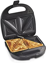 Hamilton Beach Sandwich Maker, Makes Omelettes and Grilled Cheese, 4 Inch, Easy to Store (25430), BLACK
