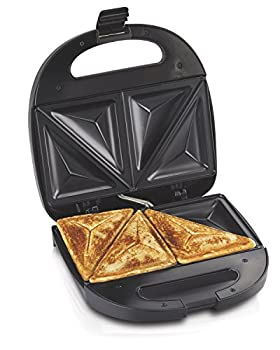 Hamilton Beach Sandwich Maker Makes Omelettes and Grilled Cheese 4 Inch Easy to Store  25430  BLACK
