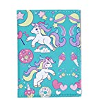 Cute Cute Unicorn Cartoon Passport Cover Travel PU Leather Passport Holder Case Wallet for Women Girls