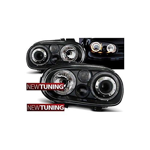 Faros delanteros ojos de ángel para VW Golf 409.97–09.03, color negro