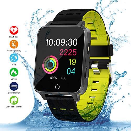 Qimaoo Smartwatch, Smart Watch Fitness Reloj X9 Fitness Tracker IP68 resistente al agua 1,54 pulgadas seguimiento de actividad con podómetro, monitor de sueño