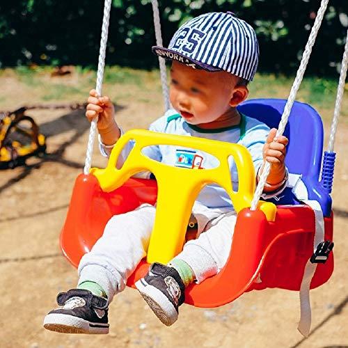 QinWenYan Columpio para Niños Interior al Aire Libre Juguetes for niños Columpio Asiento de Seguridad for niños Colgantes del Asiento 42x32x35.5CM para Jardín (Color : Red Blue, Size : 42x32x35.5CM)