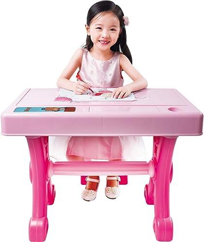 Kinder-Klavier-Schreibtisch Multifunktions-Tastaturtabelle Anf er-Musik-Aufkl ngs-Tabelle Kinderheim-Studie-Tabelle Frühe Bildung Puzzle-Studie-Tabelle ( Farbe   Rosa , Größe   376675cm )