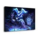 Póster de Tyrande Whisperwind de World_of_Warcraft en lienzo y arte de pared, impresión moderna para decoración de dormitorio familiar, Enmarcado, 24x36inch