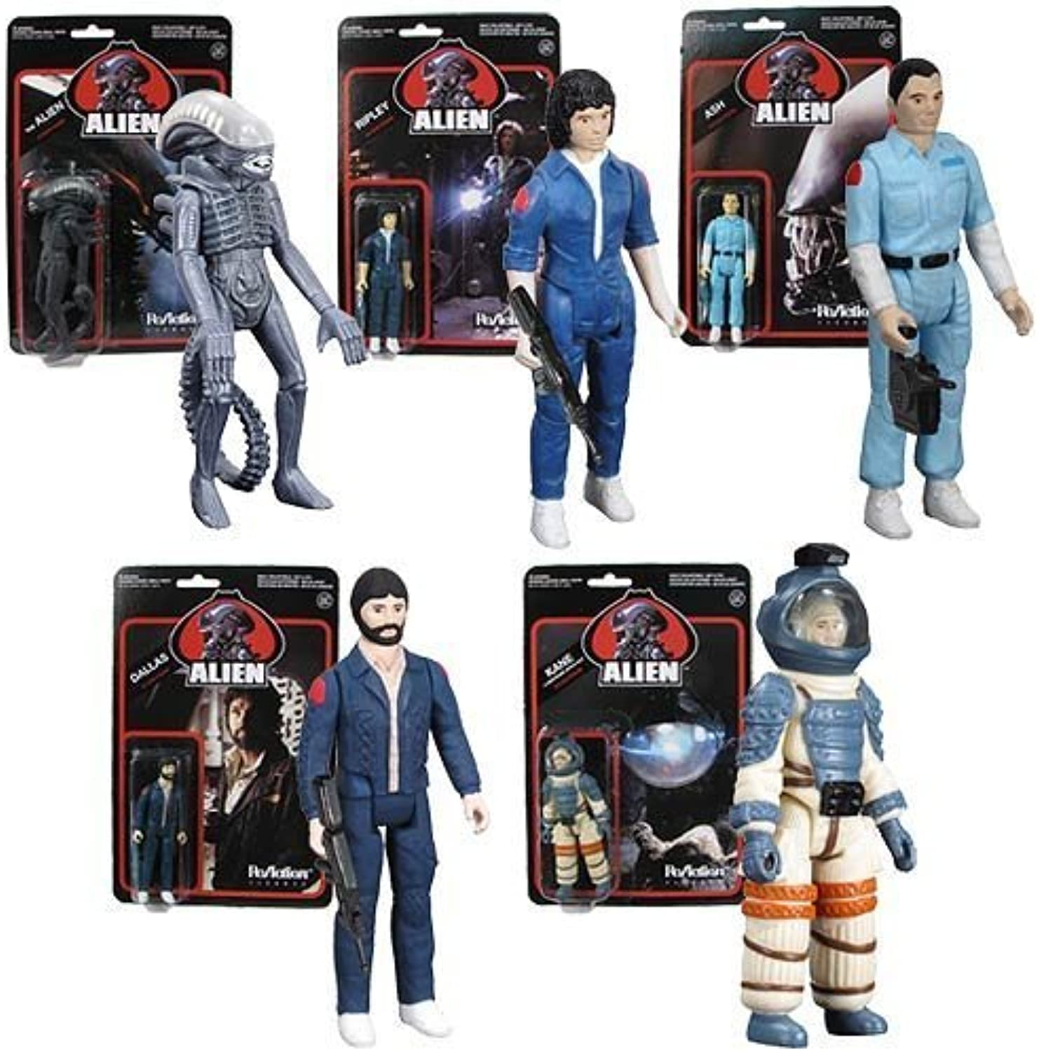 Alien 3 3 4Inch ReAction Figures Set by Super 7