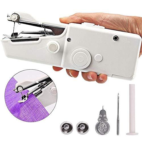 Aardich Máquina De Coser Handheld Máquina De Coser Portable Mini Máquina De Coser para La Tela Ropa Paño De Los Niños del Recorrido del Hogar Usar White
