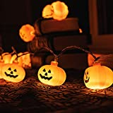 KPCB Halloween Lichterkette, Halloween Kürbis Deko Lichterkette, Kürbis Lichterkette für Halloween, 5.4m 40 LEDs Kürbis Lichter Batteriebetrieben für Halloween Party Hause Garten - 6