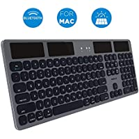 Macally Solar-Powered Rechargeable Slim Bluetooth Keyboard for Mac