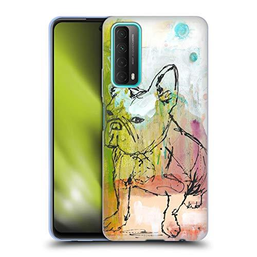 Head Case Designs Offiziell lizenzierte Wyanne Französische Bulldogge Skizze Tiere Soft Gel Schutzhülle kompatibel mit Huawei P Smart (2021)