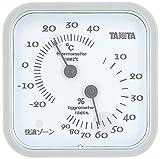 タニタ 温湿度計 アナログ グレー TT-557 GY 壁掛け 卓上 マグネット