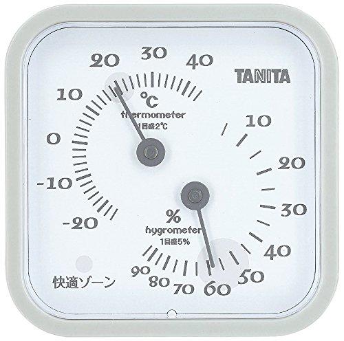 タニタ 温湿度計 温度 湿度 アナログ 壁掛け 卓上 マグネット グレー TT-557 GY