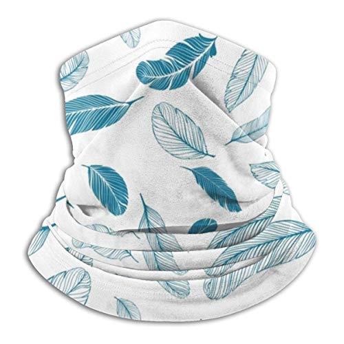 Lzz-Shop Multifunktionstuch Bandanas Schal,Schlauchtuch,Kopftuch,Stirnband,Tuch Halsschlauch Blaue Federn