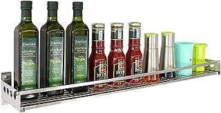 HYCy Support de Cuisine, Support à épices Mural, Support de Rangement Multifonction en Acier Inoxydable 304, Rangement éla...
