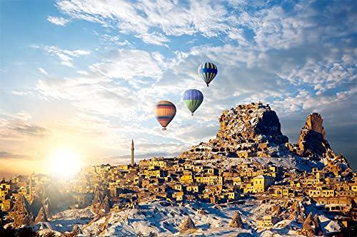 CHIGUANG Puzzle 1000 Teile,Impossible Puzzles, Geschicklichkeitsspiel für die Ganze Familie, Farbenfrohes Legespiel, Erwachsenenpuzzle ab 14 Jahren Heißluftballon