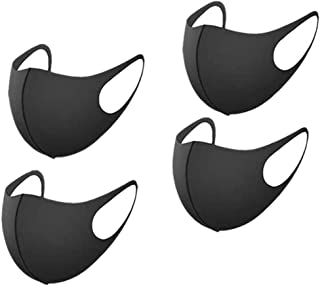 4 Pack Face Mask Reusable Mouth Masks for Cycling Camping Travel Sport Black