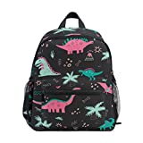 Colorful Dinosaur Kid's Backpack Toddler Bag for Girls Boys,Kindergarten Schoolbag Preschool Nursery Travel Bag with Chest Clip