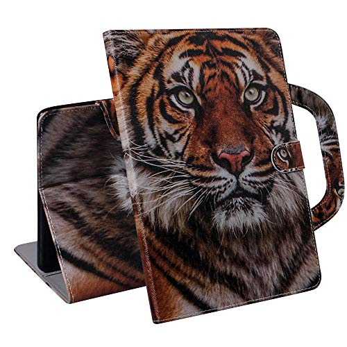 XYX Case for Samsung Tab A7 10.4 inch, Colorful PU Leather Stand Folio Magnetic Case Cover with Handheld for Samsung Galaxy Tab A7 10.4 2020 SM-T500/T505 - Amur Tiger