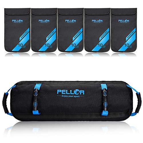 Pellor Fitness Pesi Sandbag allenamento allenamento Heavy Duty palestra Sandbag per allenamento funzionale forza allenamento allenamento dinamico