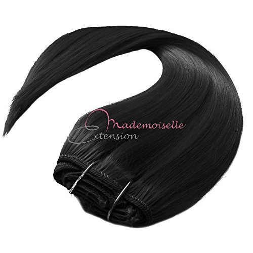 Extension a Clip Lisse Noir - Fibre professionnelle