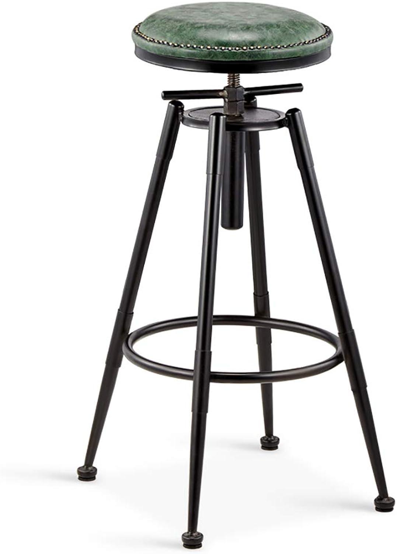Barstools Retro Bar Chair Loft Beauty Lifting High Stool Swivel Barber Creative Dining Chair (color   C)