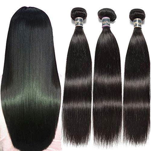 Malaysian Straight Human Hair Bundles - 9A Unprocessed Virgin Straight Hair Bundles 16 18 20 Inch Yuyongtai 1B Color Malaysian Straight Hair Weave Bundles