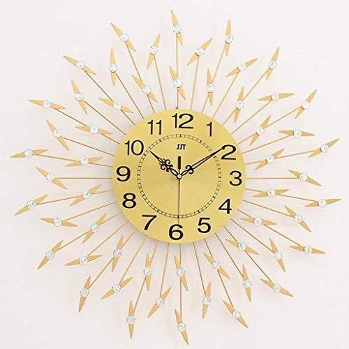 ZGYQGOO Metallwanduhr Stille Quarzuhr Gold Runde Sunburst Uhr Für Wohnzimmer Und Schlafzimmer (Farbe: # 1)