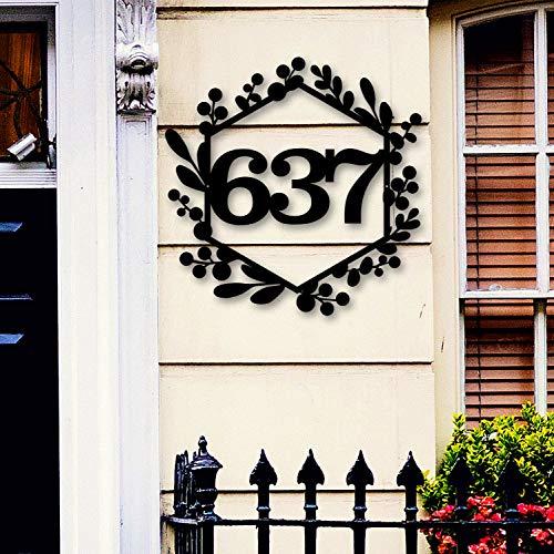 Letrero de metal para casa, señal de número de casa personalizada, regalo de inauguración de la casa, decoración de pared de metal de 60,96 cm
