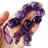 Lovionus89 7 piedras preciosas de cristal de chakras, colgante para decoración del hogar, para la curación, buena suerte, meditación de yoga, amatista.