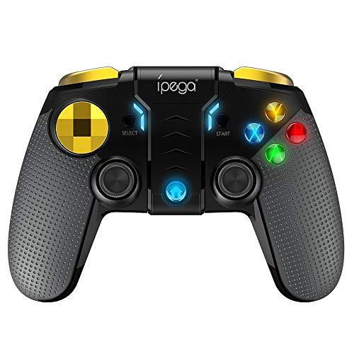 KKmoon PG-9118 Gamepad sem fio 3 em 1 + joystick + suporte telescópico BT Game Controller Smartphone Smart TV console de jogos para Android iOS