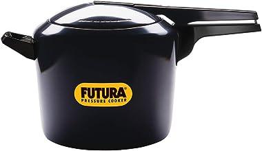 Hawkins Futura Hard Anodised Aluminum Pressure Cooker Black 7 Litre
