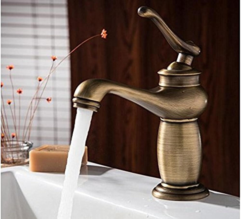 Diongrdk Basin Faucet Contemporary Concise Bathroom Faucet Antique Bronze Finish Brass Basin Sink Faucet Single Handle Water Tap Basin Sink Mixer Tap