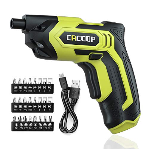 CACOOP Cordless Electric Screwdriver,4V Battery Powered Screwdriver...