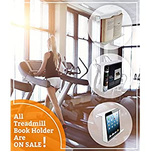 Source One LLC Universal 11 x 9 Treadmill Book Holder,Standard- For Elipticals,rowers Stationary Bikes Etc.