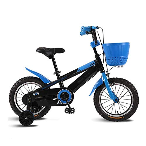 XBSLJ Kids' Bikes, Children Bicycle Child Bicycle s with Basket,12141618 with Double Brakes and Training Wheels,Boys and Girls Best Gifts