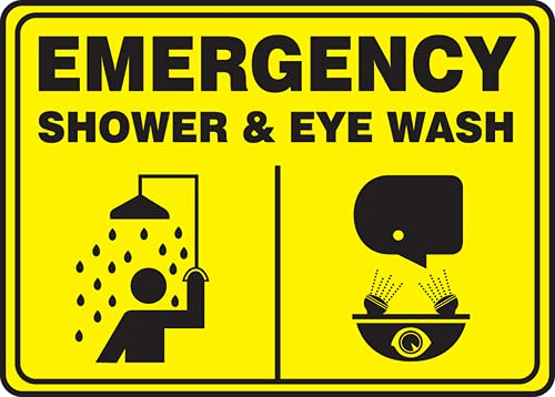 Limited Special Price Jendco - Emergency Safety Sign: Shower Easy-to-use Eye MF 14