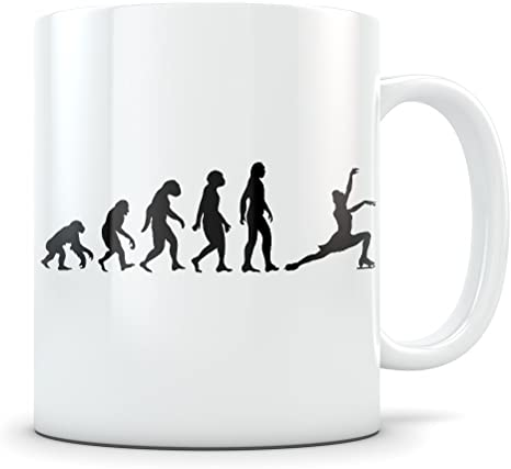 Amazon Com Figure Skating Mug For Women Coffee Cup For Coach Or Skater Best Ice Skating Gift Idea Funny Evolution Gifts Kitchen Dining