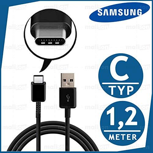 malison Schnell Ladegerät Ladekabel Typ USB-C für Original Samsung Galaxy S8 S8+ S9 S9+ S10 S10 Displayputztuch (Kabel 1.2m (nur Kabel), Schwarz)