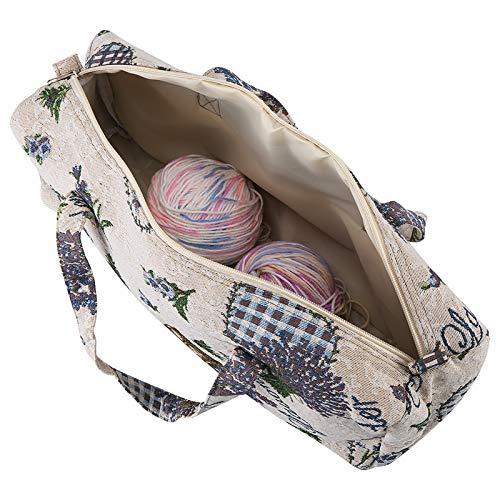 Bolsa de almacenamiento de hilo, bolso de mano de hilo, bolsa de transporte para tejer madejas,...